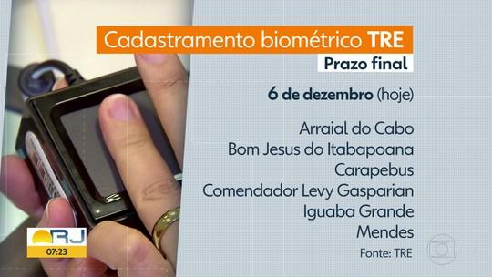 Biometria: termina nesta sexta-feira o cadastramento em 11 municípios do RJ