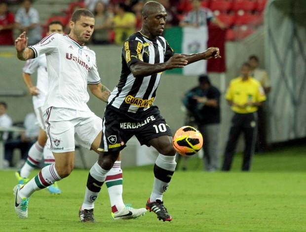 Seedorf Botafogo x Fluminense (Foto: Allan Torres / Ag. Estado)