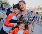 Nivea e os filhos Miguel e Bruna | Reprodução