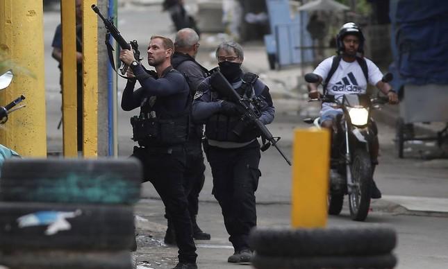 Operação da Polícia Civil na comunidade do Jacarezinho, no Rio de Janeiro