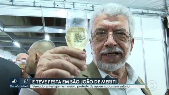 Câmara Municipal de São João de Meriti comemora emancipação com festa enquanto aposentados estão sem salário