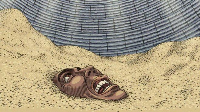 Efeito 'areia movediça' é um dos principais causadores de mortes em silos carregados de grãos (Foto: Vitor Flynn/BBC News Brasil)