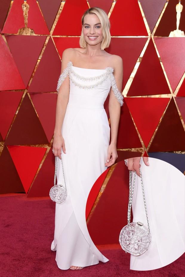 A bolsa de vidro de Margot Robbie (Foto: Getty Images)
