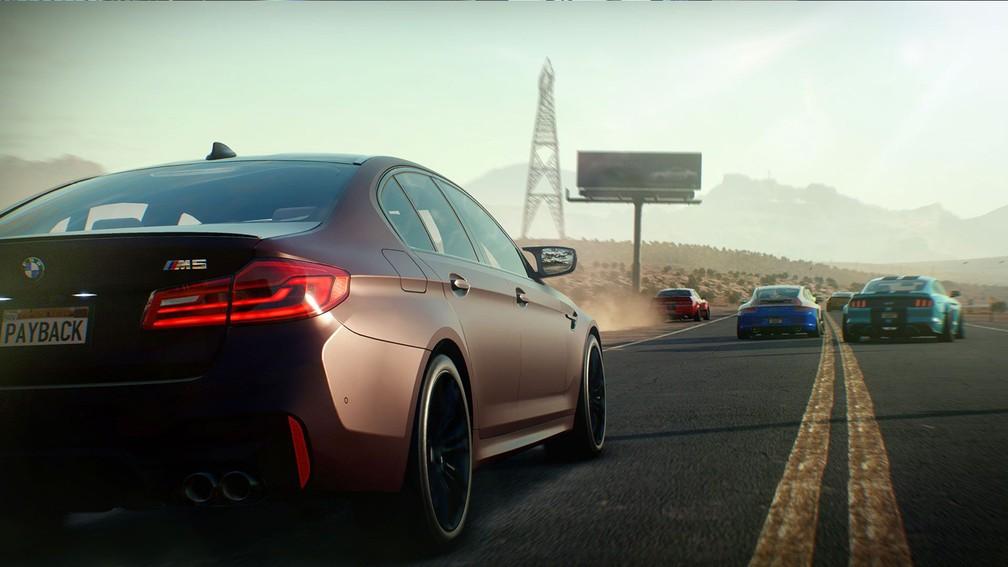 -   Need for Speed Payback  traz mundo aberto com várias atividades, como em  Forza Horizon 3   Foto: Divulgação
