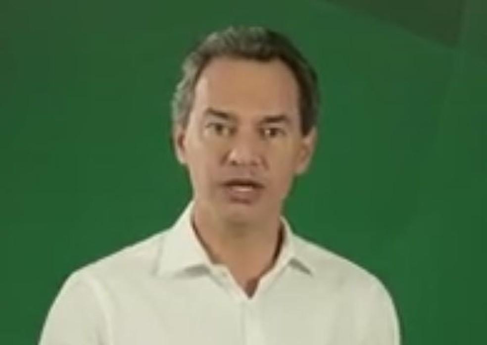 Convenção do PSD oficializou Marquinhos Trad como candidato a reeleição à Prefeitura de Campo Grande — Foto: Reprodução/TV Morena