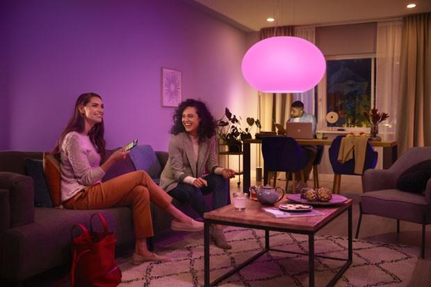 Sistema de iluminação inteligente Philips Hue chega ao Brasil (Foto: Divulgação)