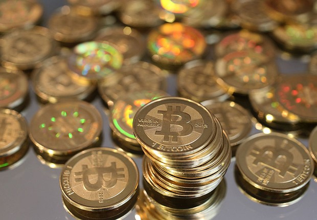 Moeda digital Bitcoin (Foto: George Frey/Getty Images)