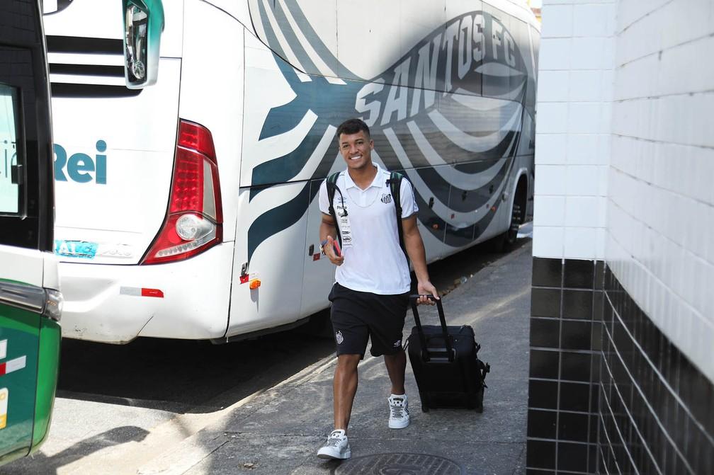 Marcos Leonardo, atacante do Santos na Copa São Paulo — Foto: Pedro Ernesto Guerra Azevedo/Santos FC
