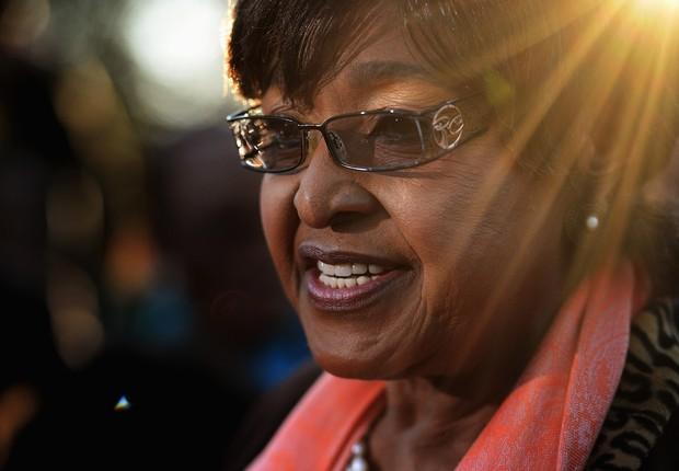 Ativista Winnie Madikizela Mandela (Foto: Jeff J Mitchell/Getty Images)