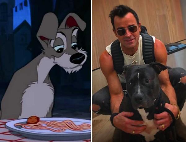 O ator Justin Theroux fará a voz do cachorrinho Vagabundo (Foto: Reprodução/Instagram)