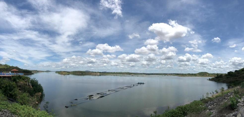 Açude de Boqueirão, na PB, passou de 60% da capacidade — Foto: Artur Lira/TV Paraíba