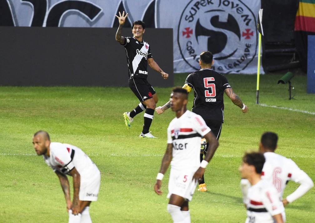 Cano comemora gol do Vasco contra o São Paulo — Foto: André Durão