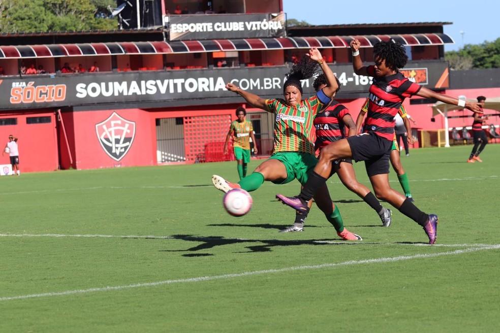 O Vitória bateu o Lusaca por 2 a 0 no Barradão — Foto: Maurícia da Mata / Divulgação / EC Vitória