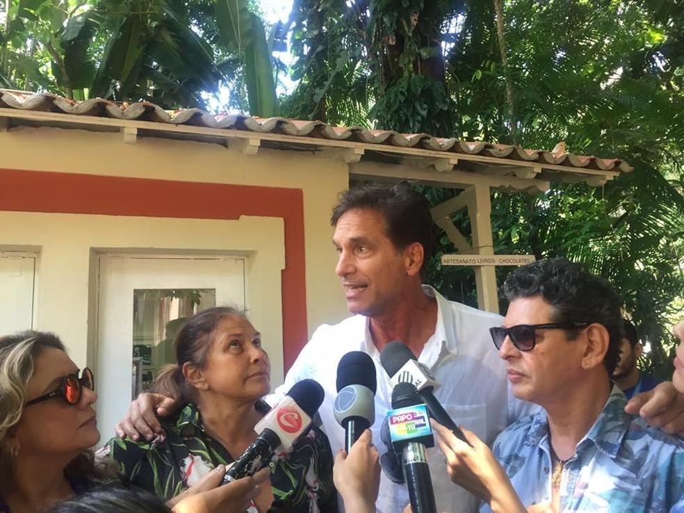 Ator Vitor Fasano veio ao Pará participar do ato em defesa do Museu Goeldi.  (Foto: Dilson Pimentel/ O Liberal)