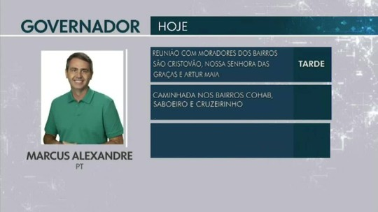 Confira a agenda dos candidatos ao Governo do Acre em 20 de setembro