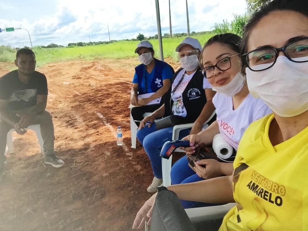 Trabalho começou nessa terça-feira e segue por tempo indeterminado — Foto: Prefeitura de São Félix do Araguaia-MT/Divulgação