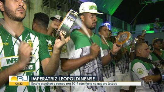 Imperatriz Leopoldinense escolhe o samba para o carnaval de 2019 no Rio