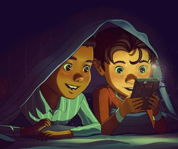 Meninos jogando videogame (Foto: Reprodução/Instagram (@omario2d))