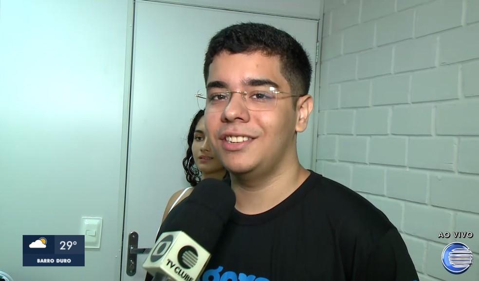 João Victor Amorim.  — Foto: Reprodução/TV Clube