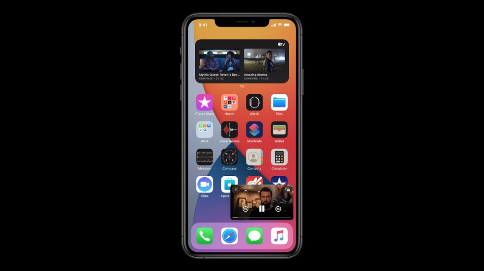 Sistema Picture in Picture permite acessar outros apps enquanto você assiste a vídeos — Foto: Reprodução/Apple
