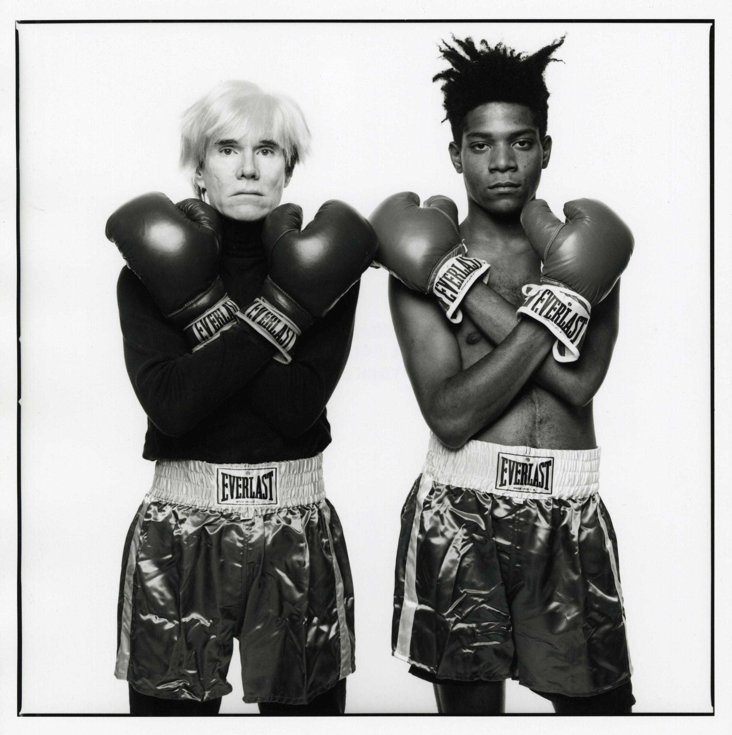 Andy Warhol e Jean-Michel Basquiat  (Foto: Michael Halsband / Divulgação)
