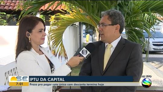 Prazo para pagamento da cota única com desconto do IPTU de Aracaju termina nesta terça-feira