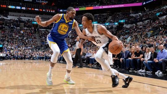 DeMar DeRozan brilha no fim, Spurs seguram reação dos Warriors e vencem a nona seguida