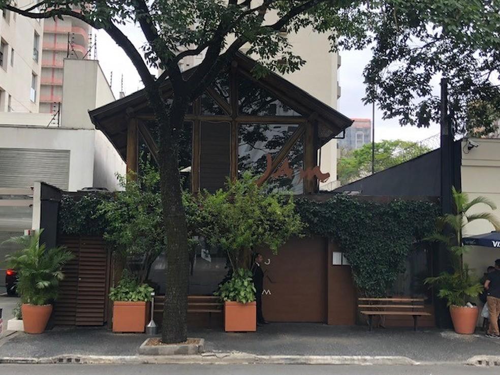 Restaurante Jam, no Itaim Bibi, Zona Sul de São Paulo, onde sushiman foi morto a tiros pela PM — Foto: Kleber Tomaz/G1