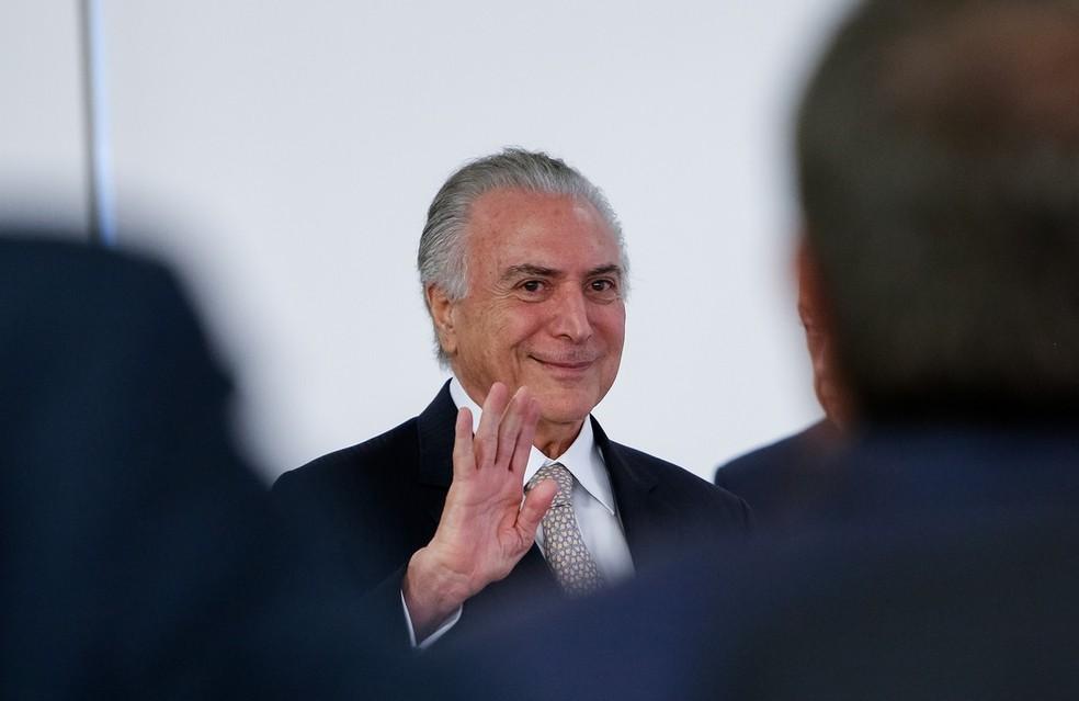 O presidente Michel Temer em evento no Palácio do Planalto no início de janeiro (Foto: Alan Santos/PR)