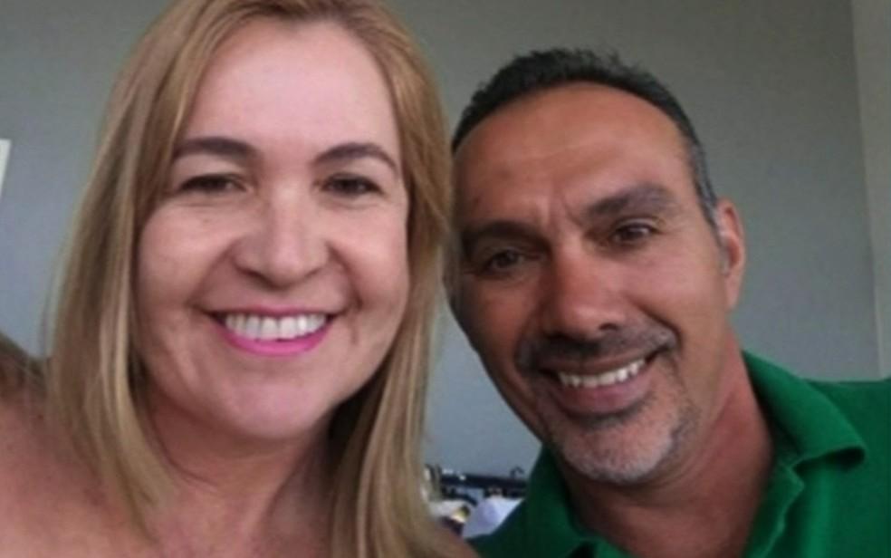 Casal Márcio Rodriguese Maira Gomes foi encontrado morto em quarto de motel (Foto: Reprodução/TV Anhanguera)