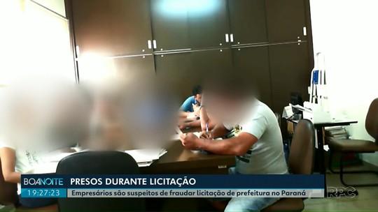 Empresários são presos pela Polícia durante licitação, em Andirá