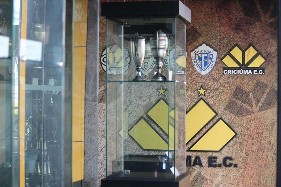 Criciúma inaugura sala de troféus — Foto: Celso da Luz/ Assessoria de imprensa Criciúma E.C.