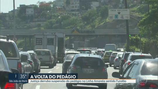 Prefeitura do Rio diz que vai recorrer do retorno à cobrança de pedágio da Linha Amarela