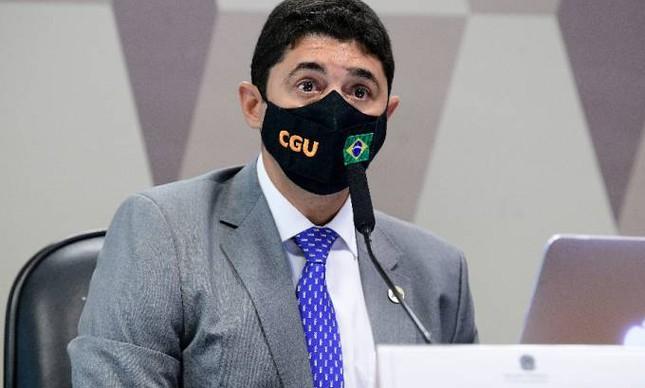 Wagner Rosário, ministro da Controladoria-Geral da União (CGU), durante depoimento à CPI da Covid