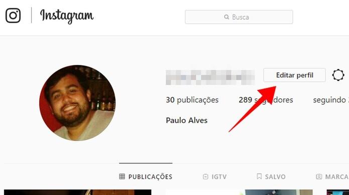 Edite o perfil do Instagram na web (Foto: Reprodução/Paulo Alves)