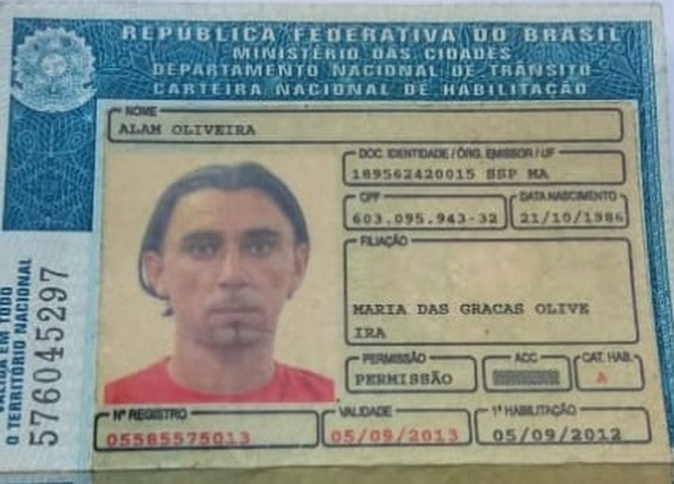 Alam Oliveira sofria de depressão e estava desaparecido desde o último dia 27 de fevereiro — Foto: Divulgação/Polícia
