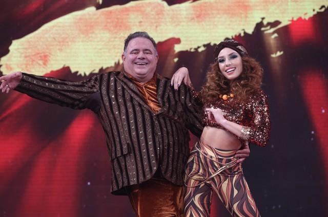 Leo Jaime e Larissa na 'Dança dos famosos' (Foto: Reprodução)