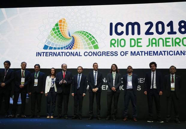 """Cerimônia de abertura do Congresso Internacional de Matemáticos 2018 (ICM) e entrega da Medalha Fields, a mais importante premiação da matemática mundial, conhecida como """"Nobel da Matemática"""" (Foto: Tânia Rêgo/Agência Brasil)"""