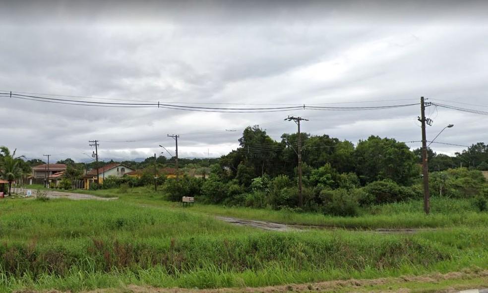 Avenida das Palmeiras, em Itanhaém (SP), onde o homem foi encontrado pela polícia — Foto: Reprodução