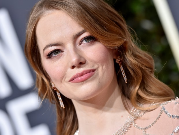 Emma Stone no Globo de Ouro 2019 (Foto: Getty)