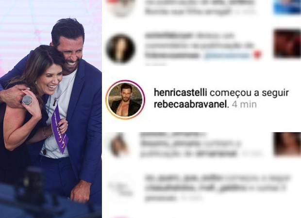 Henri Castelli e Rebeca Abravanel (Foto: Francisco Cepeda / AgNews e Reprodução / Instagram)