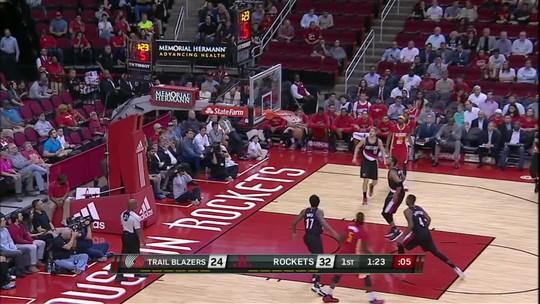 Harden crava triplo-duplo e conduz vitória dos Rockets sobre os Blazers