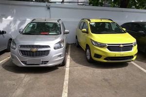 Chevrolet Spin 2019 e o modelo anterior