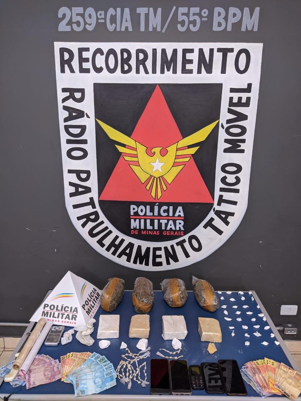 Oito pessoas são detidas suspeitas de  tráfico de drogas em Pirapora e Coração de Jesus