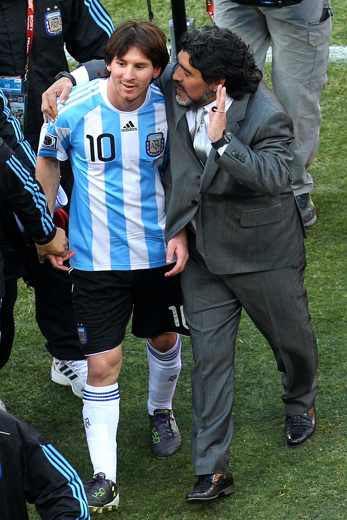 Diego Maradona e Lionel Messi (Foto: Getty Images)