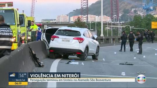 Tiroteio entre policiais e criminosos interdita um dos acessos à Ponte Rio-Niterói, RJ
