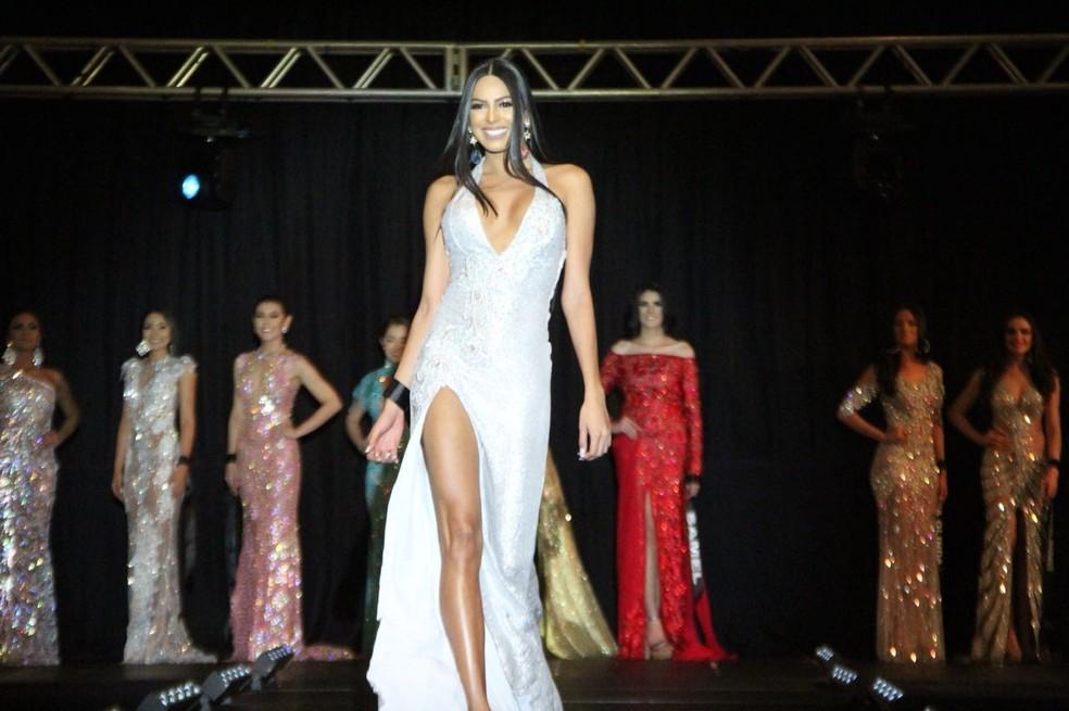 Mayra representou Itacoatiara no Miss Amazonas 2018 (Foto: Rickardo Marques/G1 AM)
