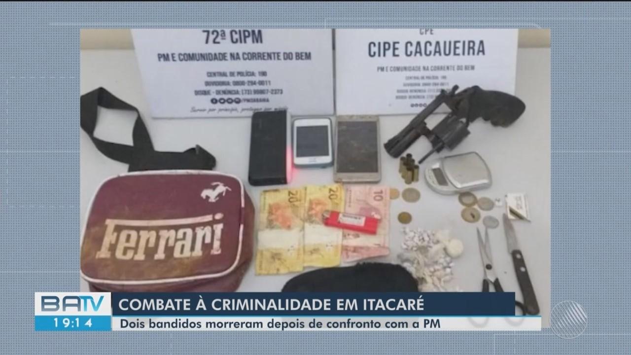 Dois morrem após confronto com a polícia em Itacaré, sul da Bahia
