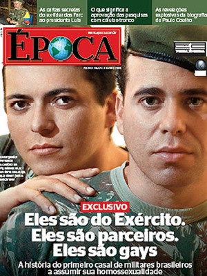 Casal de sargentos foi capa de revista em 2008  (Foto: Foto: Revista Época/Reprodução)