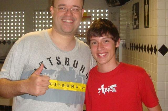 Everaldo e Arenillas em 2010 (Foto: Arquivo pessoal)